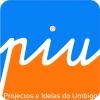 Logo piu | projectos e ideias do umbigo